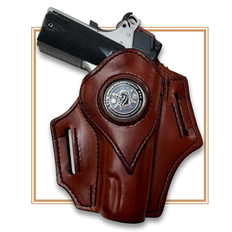 custom leather gun holster in iowa